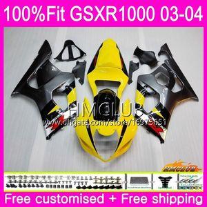 حقن الجسم لسوزوكي GSXR-1000 GSXR1000 03 04 هيكل السيارة 10HM.2 GSX-R1000 GSX R1000 03 04 K3 GSXR 1000 2003 2004 بيع