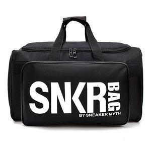 New SNKR Designer Duffle Bag 19ss Mens Womens Designer Bags Black White Large Capacity Travel Bag Gym Bags l24