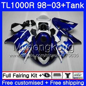 + Marco del tanque azul para SUZUKI SRAD TL 1000 R TL1000R 98 99 00 01 02 03 304HM.14 TL1000 R TL 1000R 1998 1999 2000 2001 2002 2003 Carenados