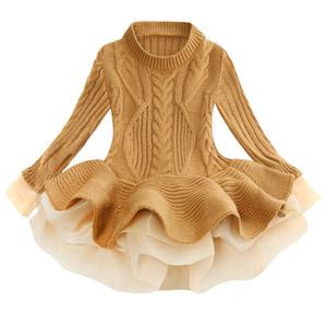 Menoea ragazze maglione lavorato a maglia inverno Girl Dress Christmas Party manica lunga Solid bambini Colore Abiti per ragazze Capodanno Abbigliamento