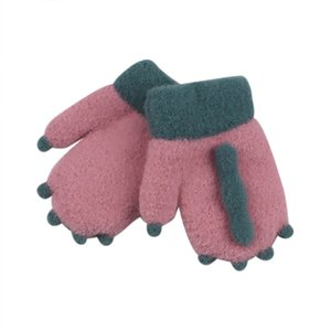 Are you sure not to click in and see? Winter Big Children's Gloves Half Finger Knit Gloves Boy Gloves Mittens Warm Purchasing