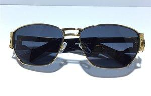 2663 Medusa Lunettes Prescription Eyewear Cadre Vintage Hommes Designer Lunettes Avec Le Cas Original Rétro Design Plaqué Or