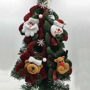 Carino 1PC Albero ornamenti albero di Natale appeso decorazioni paracadute pupazzo di neve Babbo Natale Ciondolo Goccia Ornamenti