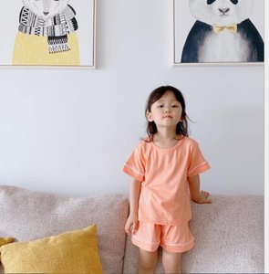 Children's home clothes girls air conditioning clothes children's pajamas short sleeves summer thin boys' cotton pajamas children's pajamas