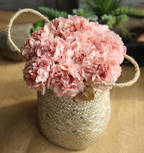Venda Hot Silk Hydrangea Peony Artificial Flowers Wedding Chefe Bouquets 5 Big massa flores para a decoração Home