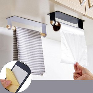 Cuisine Adeeing Porte-serviettes simple tige clou sans collant Commodity Shelf Chiffon Tissu Hanger