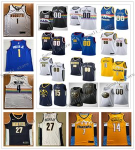 Printed Men Jokic 15 Nikola Jamal 27 Murray Paul 4 Millsap Gary 14 Harris Jerseys Basketball Shirts