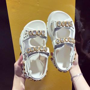 Yaz Rhinestone Kadınlar Sandalet ayakkabı kadın Plaj Sandalet kadın Ayakkabı 35-40 LY191203 Walking 2019 Nefes Rahat Kaymaz Bayanlar