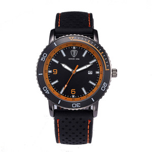 Cool Black Men Watch Outdoor Sports Calendar Men Silicone Band Foreign Trade Watch Student Table