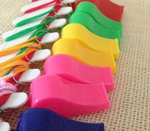 2880PCS / Lot Förderung bunte Plastiksportpfeife mit 6 Lanyard Farben mischten DHL Fedex freies Verschiffen