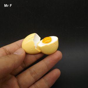 Exquisite Flat Back Resin Model Kawaii Broken Egg Simulation Miniature Toy