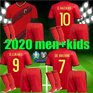 الأطفال الكبار 2020 2021 بلجيكا المنزل بعيدا LUKAKU أخطار كومباني لكرة القدم جيرسي 20 قميص 21 DE BRUYNE MERTENS الرجال الفتيان مجموعات الرياضية لكرة القدم