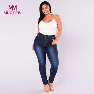 High Waist Pencil cowboy monkey woman Trousers Women Plus Size Stretch Slim denim jeans womens Skinny Jeans Pants #G8