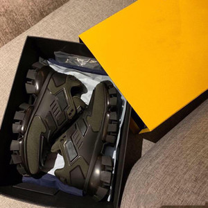 Prada Erkekler Tasarımcı Ayakkabı Cloudbust Thunder Örme Sneaker Kadınlar Beyaz Siyah Deri Mesh Sneaker Dantel-up Düz Üçlü Vintage Lüks Ayakkabı