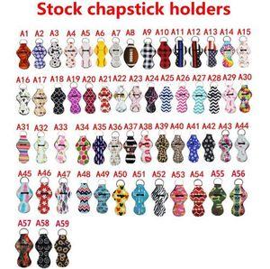 10er Pack Neopren Chapstick Halter Schlüsselbund Mädchen Chapstick Lippenstift Schlüsselbund zum Verkauf Geschenk begünstigt Valentinstag Geschenkpapier