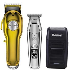 Kemei cortadora de cabello eléctrica recortadora barbero cuchilla de pelo cortadora de corte de pelo kit de la máquina combo KM-1987 KM-1986 KM-5027 KM-1102
