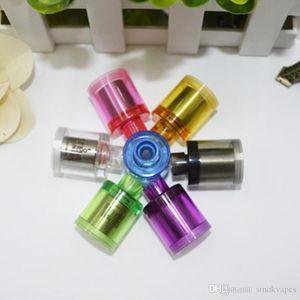 Nizza Kayfun Bell-Cap Drip Tips Acryl Polieren Transparent Ultra Short-Positionen mit Edelstahlkappe