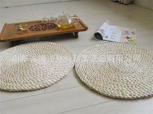 Экология Таблица Placemats Круглых форм Кукурузного мех Плетеных чашки кофе Coaster Главной сиденья Накидка Теплоизоляция 4 5sx E1