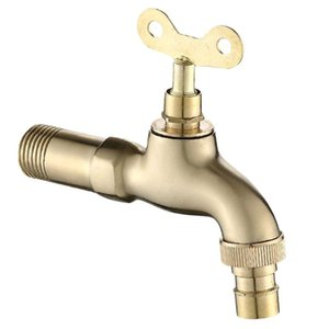 1Pc Faucet Practical Wall-in Fashion Durable Copper Faucet Washing Machine Water Tap for Bathroom Home