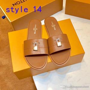 Lüks terlik Plaj Jelly Flip kutusu flop moda Deri alt sandalet yaz dijital baskı kalıbı Günlük daire Womens