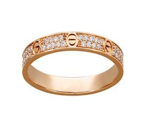 ANELLO DI ANELLO DI AMORE DI AMORE DI AMORE D'oro Rosa d'argento in acciaio in acciaio in argento per gli amanti