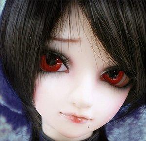 D01-P183 juguete hecho a mano para niños 1/3 Accesorios para muñecas BJD / SD muñeca peluca cable de alta temperatura negro pelo corto