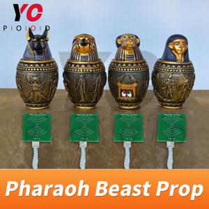 Pharaoh Beat Beast Pop Room Escape Game Puzzle Put Egypt Pyramid Statues en el lugar correcto para abrir el proveedor de Lock Sensores RFID Yopood