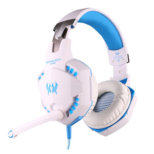 KOTION EACH G2100 Vibration Function Gaming Headphone Studio Headset Headset with Mic Stereo LED Light for PC Gamer Computer