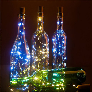 20LEDs Cork Light Glass Sughero Vino LED Stringa di rame Festa di Natale Decorazione natalizia Luci per stringa