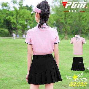 2020 neue Kind-Kleidung Anzug Mädchen Sport Freizeit Kleidung atmungsaktiv Kurzarm-T-Shirt mit Plissee-Rock-Satz Soft Skin pgm