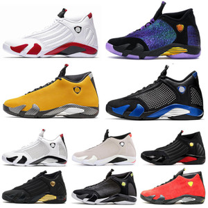 Air jordan retro 14 14s AirJordanRétro14 14s chaussures de basket-ball rouge tonnerre Université or canne en bonbon Varsity Royal Mens chaussures de sport taille 7-13