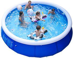 Piscina scoperta della clip fitta rete Pad Estate cornice Pool Home inflat Piscina scoperta per bambini adulti famiglia Vasca da bagno Vasca da bagno all'aperto bambini