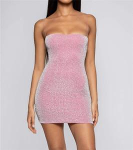 Bayanlar Moda Off Omuz Bel Paketi Kalça Tüp Üst Slim Fit Altın İpek Kayış Katı Renk Jumpsuit