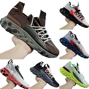 With Box 2020 React ISPA Stretch Knit Breathable Running Shoes Originals Undercover Mid Top React ISPA React Buffer Rubber Jogger Shoes