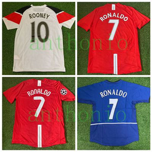 Top 2007/2008 RETRO CLÁSSICO estrela RONALDO 7 # ROONEY 10 # camisa de futebol camisa camisa 04/05 futebol kit camiseta futbol maillot de pé