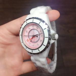 Bella quadrante rosa perla orologio donna quarzo orologio da polso moda donna cinturino in ceramica orologio femminile relogio montre femme