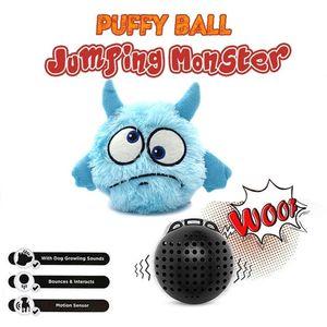 Pet Supplies Собака Vocal вибрации Электрический игрушка мяч собака Catching Отказов Плюшевые игрушки Бал Puffy Прыжки Monster Ball Small Animal Supplies