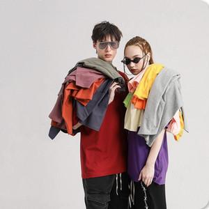 New Soild Colors T shirt Off Shoulder Mens Women Fashion Cotton Streetwear Oversized T-shirt Nxcaps Wholesale