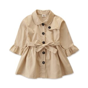 Baby Jacket Casaco Infantil Girl Baby Coat 2020 Spring Autumn Baby Jas Trench Double Breast Windbreaker for Girl Kids Jacket For 1-4T