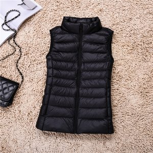 2020 new lightweight women's slim standard portable vest winter coat down jacket Vest down jacket fashion