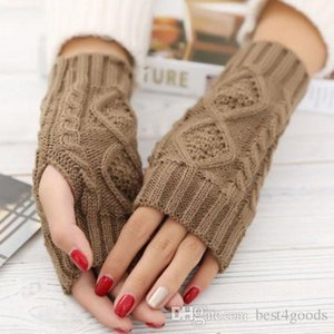 Spring Warmer Winter Long Unisex Women Men Knitted Arm Gloves Outdoor Fingerless Gloves colorful XMAS Gifts