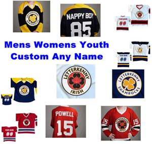 NCAA Letterkenny irlandesa jerseys Dan DeValk Jersey Mike Su Michael Jacobs Jeff Parry Brian Berenz de hockey sobre hielo de los jerseys para hombre cosido personalizada