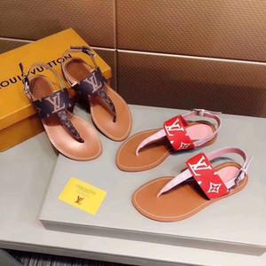 Gratisversand! 2019 Frühjahr und Sommer Sandalen weibliche Modedesignerin Flip Flops heißen Luxus offene Zehen flache Sandalen