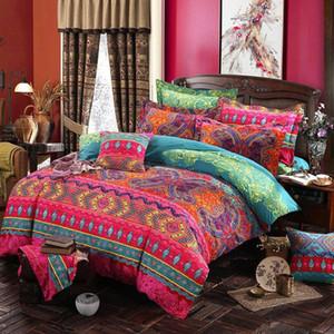 Adeeing 2 / 3Pcs Bohemian estilo de impressão edredon cobrir fronha cama Set