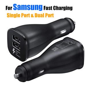 Pour Samsung Chargeur De Voiture Rapide Charge Double Double Ports USB Adaptateur Pour Galaxy S8 S9 Plus Note 8 Iphone 8 X X Max