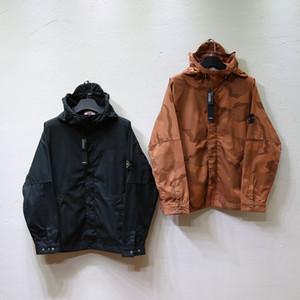 Mens Hoodie stripe dettaglio antistrappo nero due colori asiatico dimensioni tessuto Terry collo pullover per giacche camicie maschio cappotti