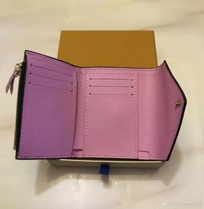 2018 Titular corta carpeta de la tarjeta colorida al por mayor de señora Hot Multicolor Nuevo monedero código de la fecha original de mujeres de la caja clásico de la cremallera del bolsillo
