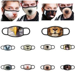 Máscaras Impreso Animal 3D Cotton Dust personalizados resorte y el otoño de marea Modelos Máscaras transpirables limpiada y reutilizada máscara protectora HH9-3072