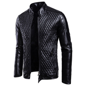 Fashion Men Motorcycle PU Leather Jackets Men Leather Autumn Winter Slim Fit Jackets Male Business Fitness Casual Outwear Coats