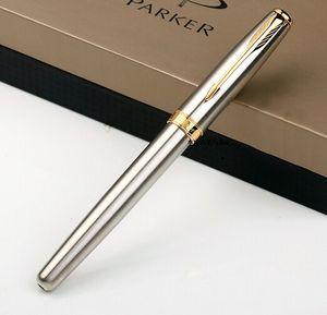 Caneta rollerball prata clip dourado canetas de alta qualidade escritório escrita artigos de papelaria suprimentos frete grátis promoção roller caneta bola